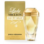 Изображение парфюма Paco Rabanne Lady Million Eau My Gold! 80ml edt
